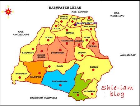 Peta Kabupaten Lebak